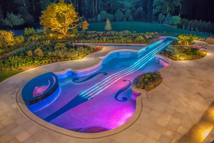 Violin Shaped Swimming Pool