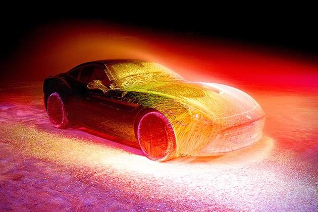 Amazing Ferrari California T with UV Paint Job