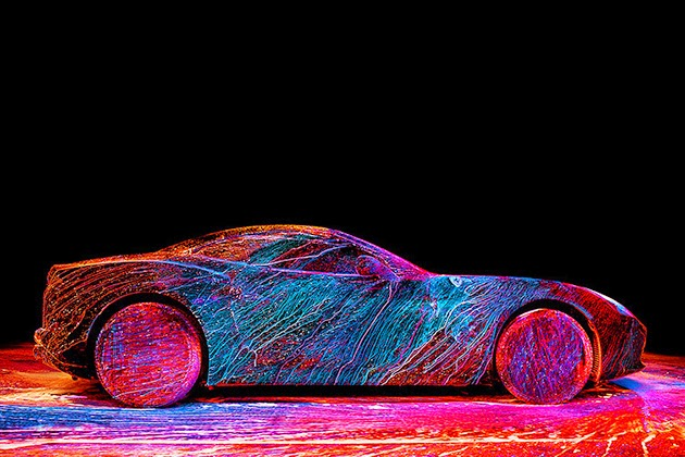 Amazing Ferrari California T with UV Paint Job