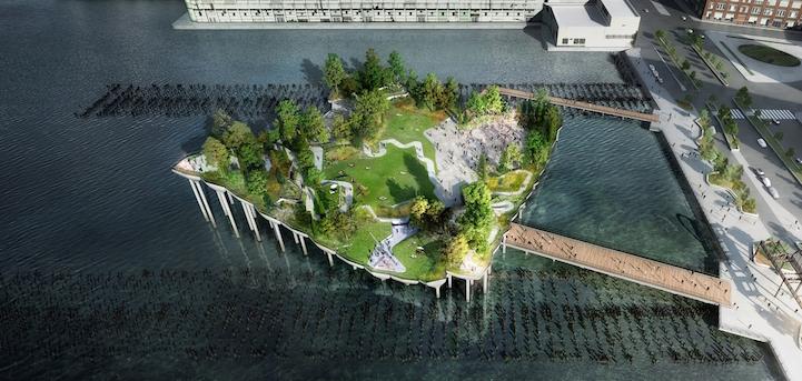 Lush Floating Park New York
